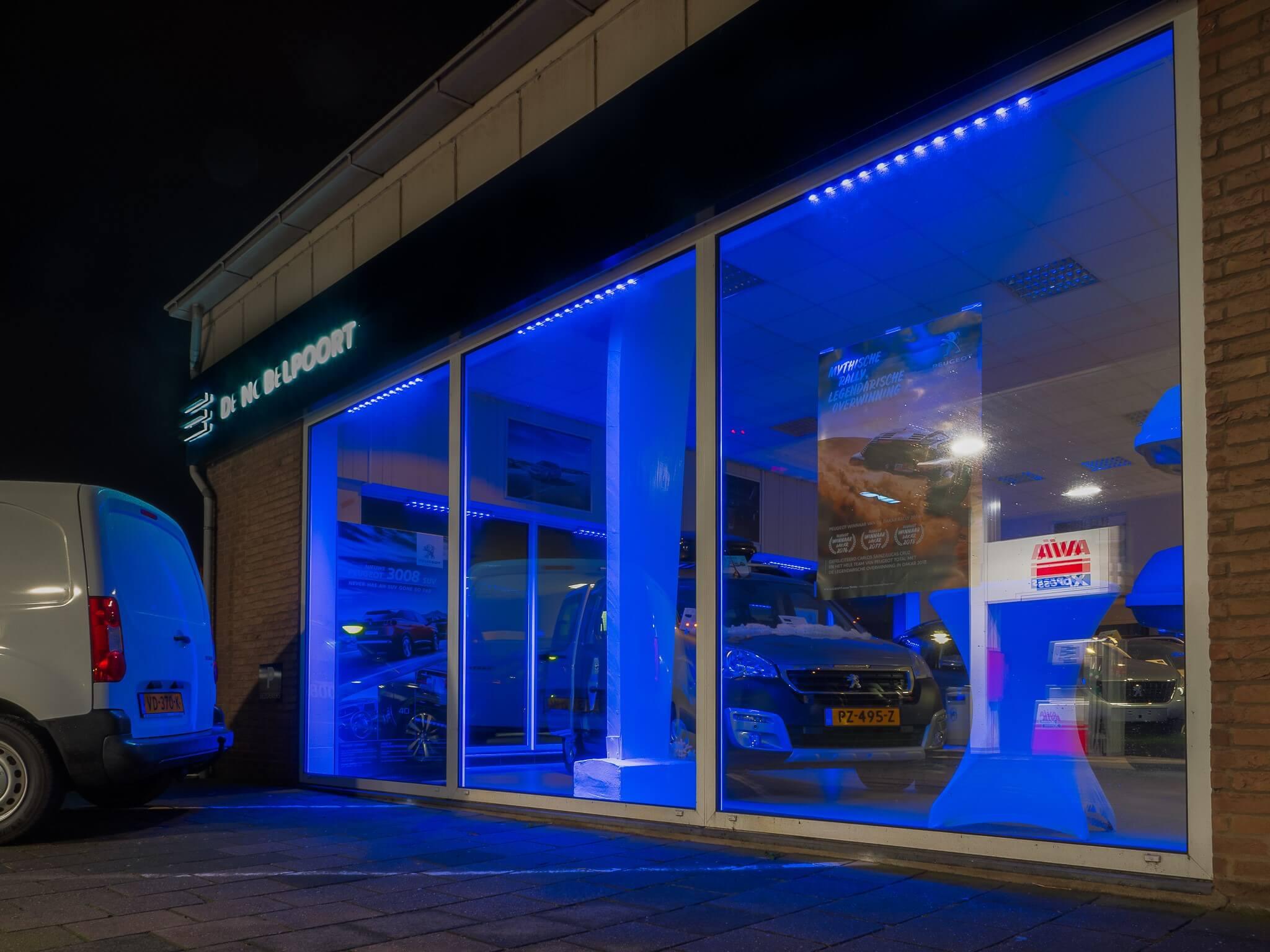 LED verlichting Garage de Nobelpoort - Steutel Installatietechniek