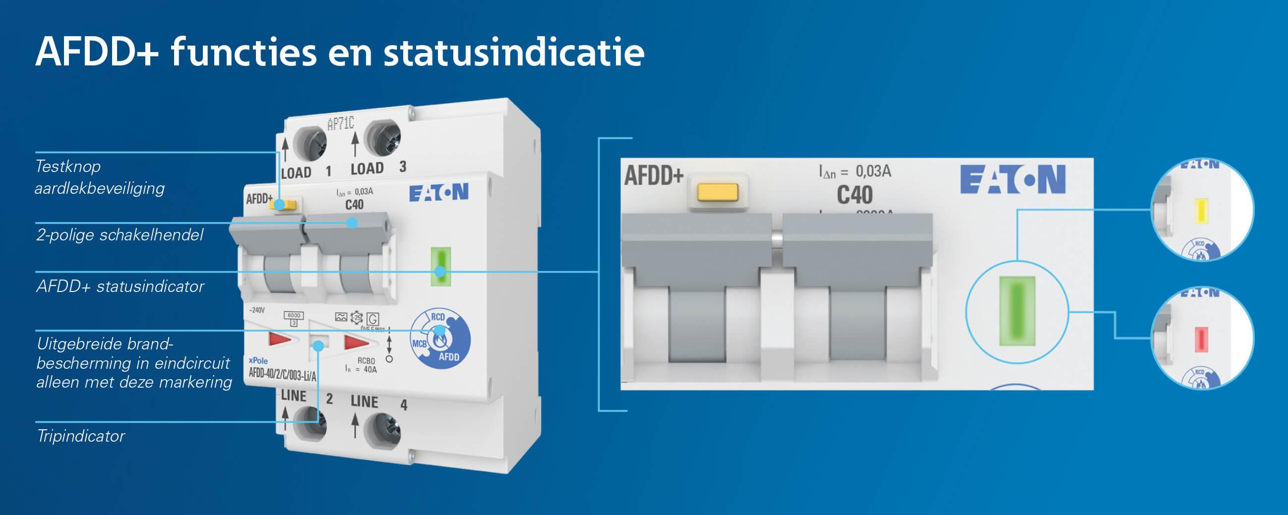 AFDD vlamboogdetectie, de functies